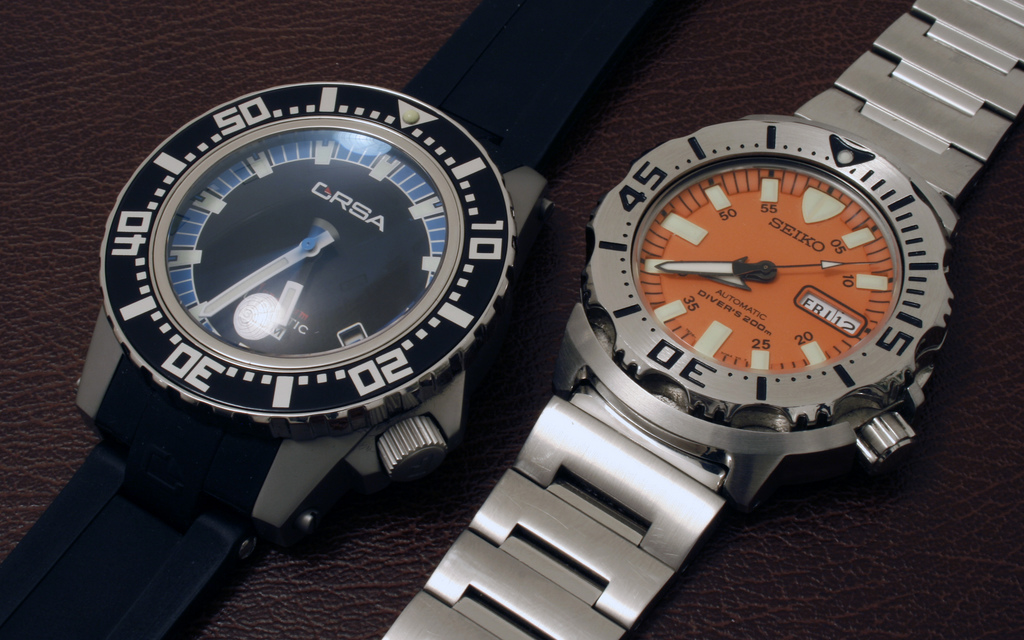 How to Choose a Good Dive Watch - Orsa Monstrum with Rubber Strap and Seiko Monster with Steel Bracelet