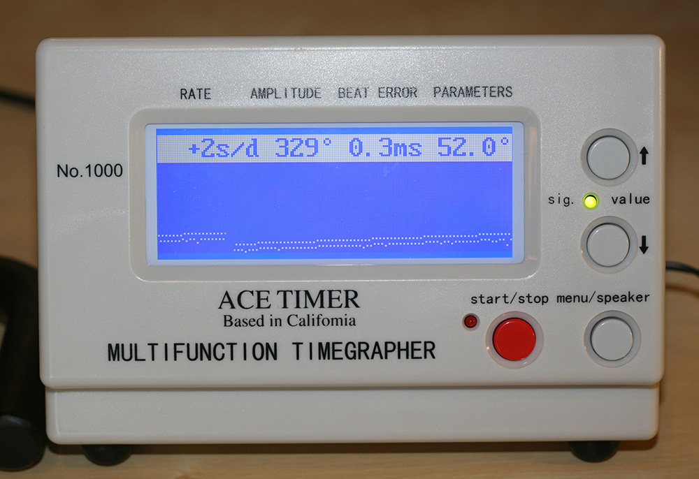 Ace Timegrapher Review - Display