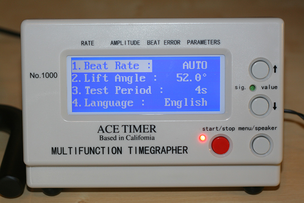 Ace Timegrapher Review - Display 2