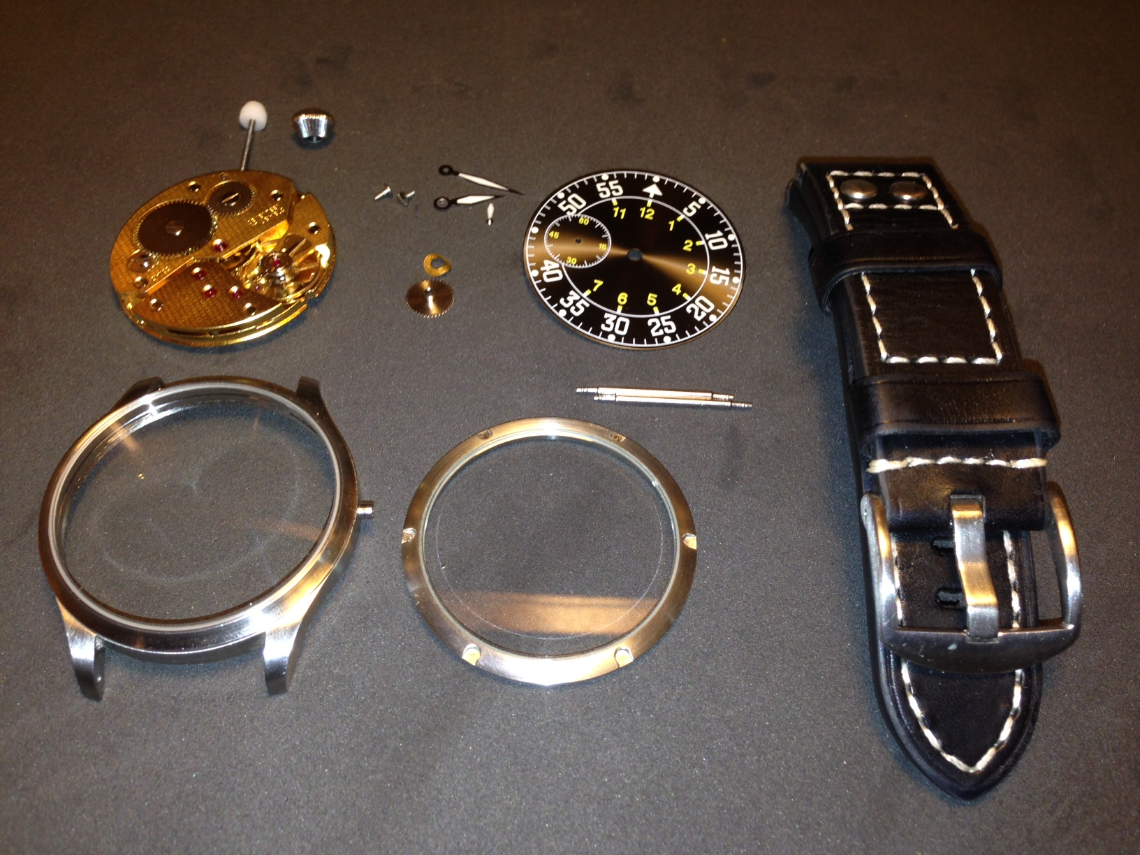 How to build your own mechanical watch - Flieger-01