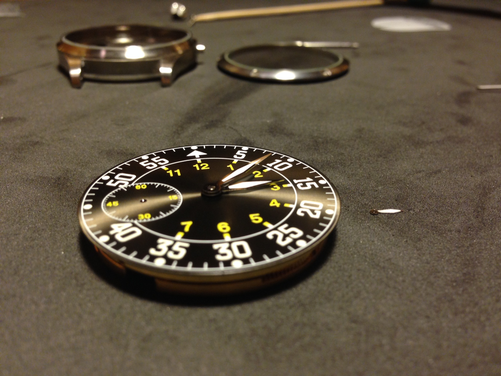 How to build your own mechanical watch - attach the minute hand