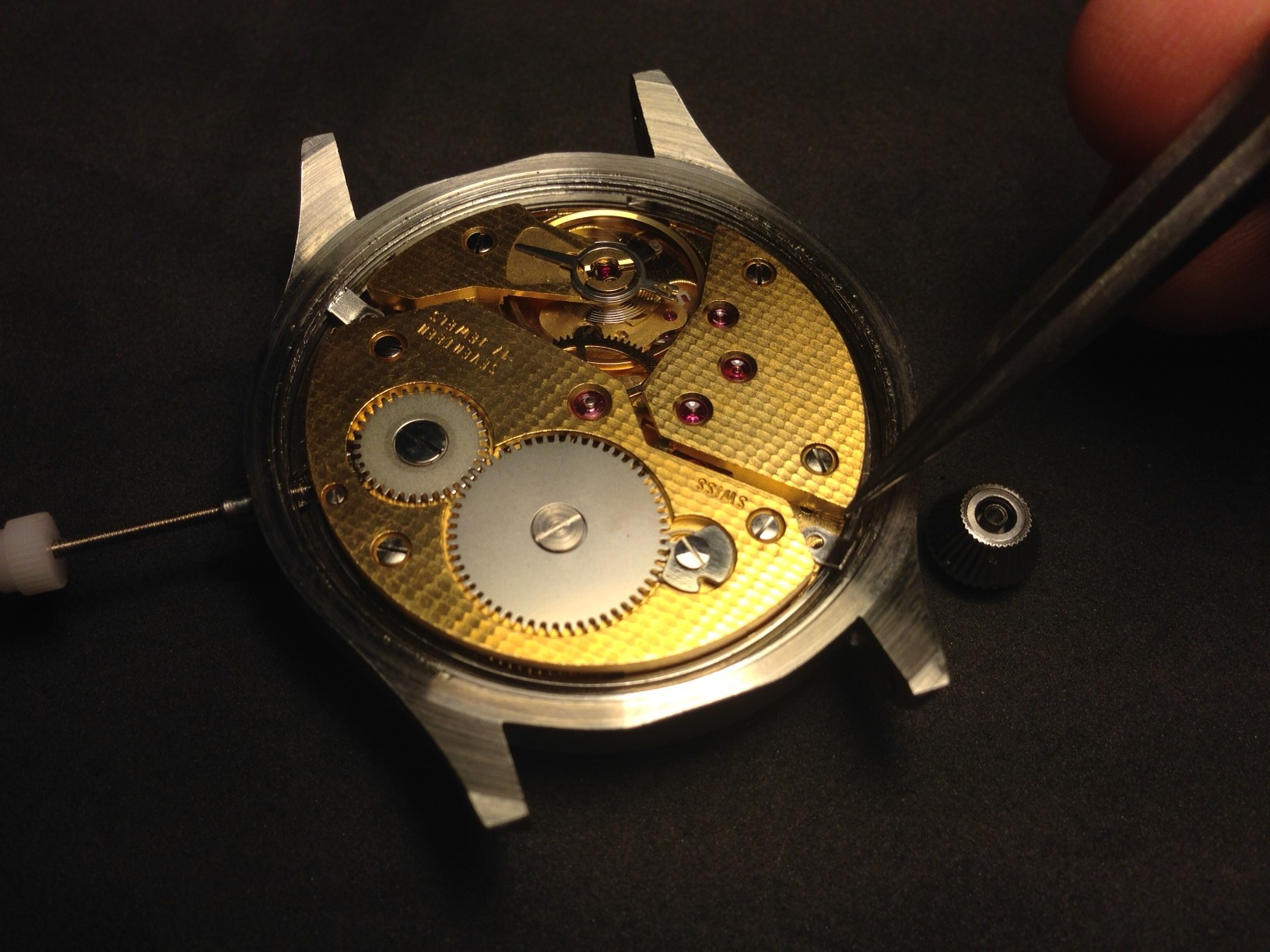 How to build your own mechanical watch - attach the stem