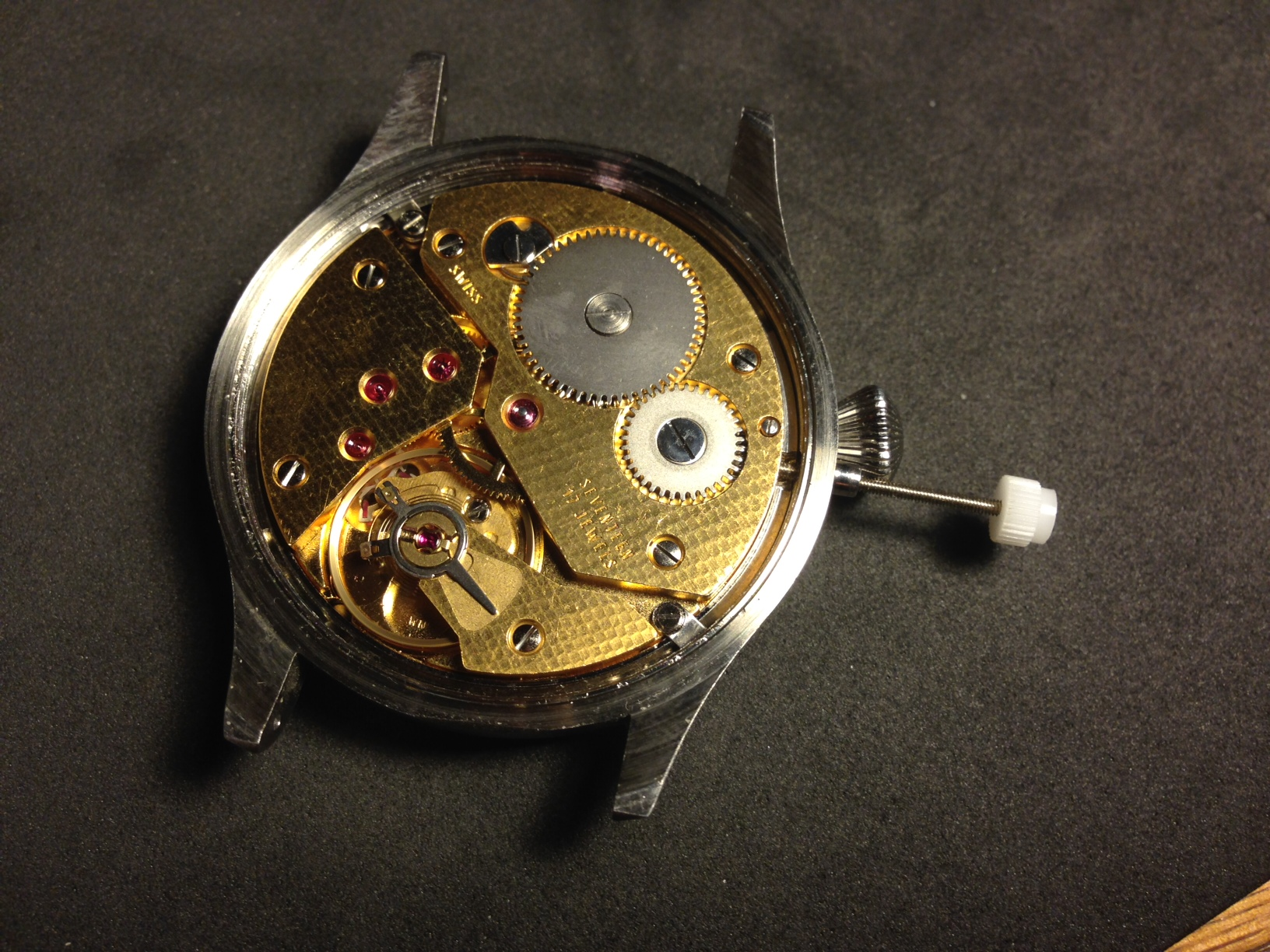 How to build your own mechanical watch - line up the stem