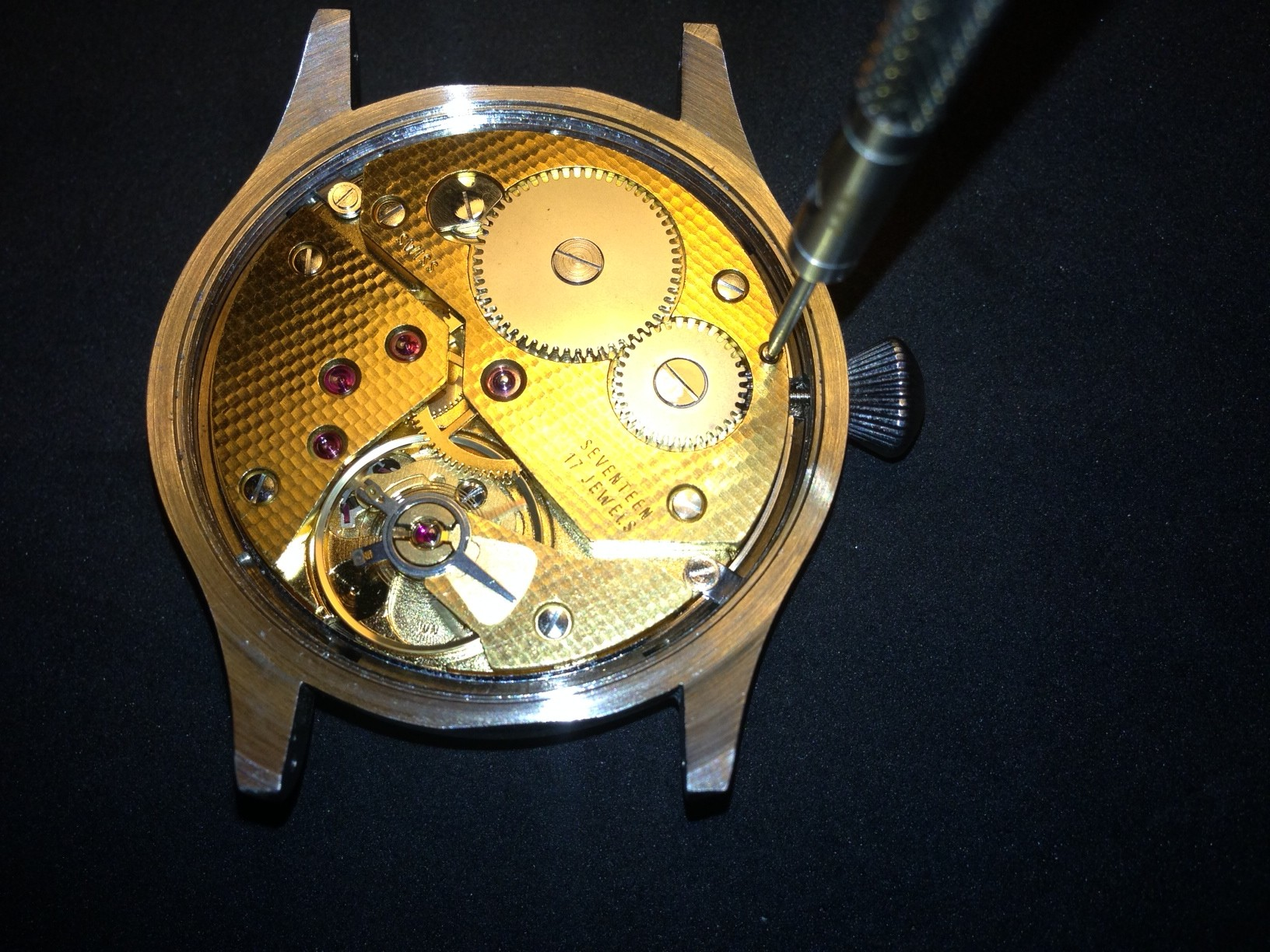 How to build your own mechanical watch - attach the crown