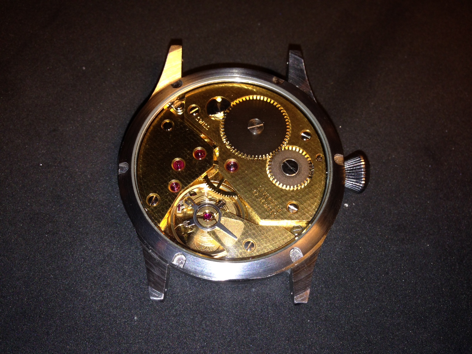 How to build your own mechanical watch - attaching the case back