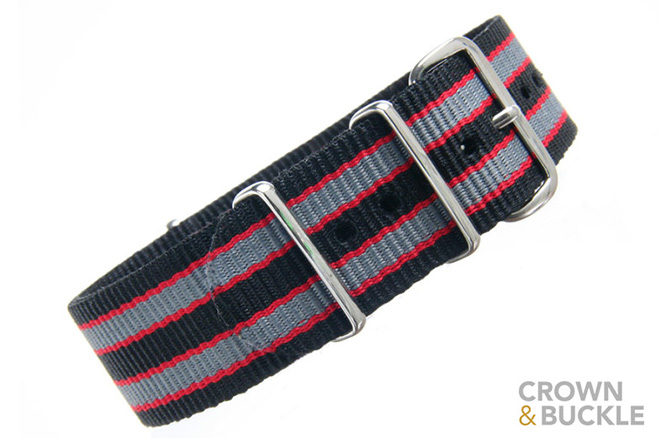 how to break in a nato strap - BLACK/RED/GREY NATO - 22MM