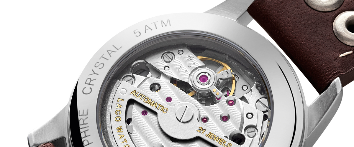 Laco Aachen B-type Miyota Movement with Sapphire Glass